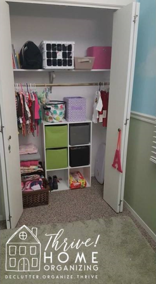 nursery closet after